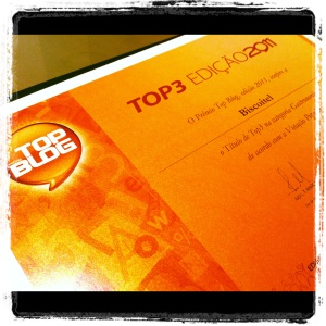 Certificado TOP BLOG 2011