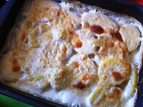 Batata gratinada pronta