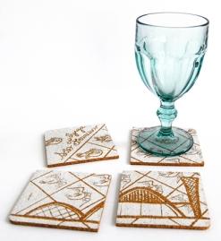 Porta-copo e imã ambientado - Igreja da Pampulha - Refúgio Design