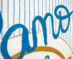 Detalhe poster de pano - Pano de Prato Refúgio Design