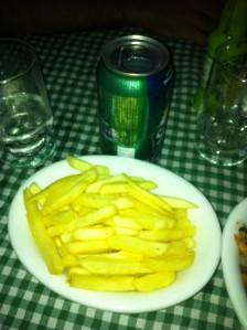 Batata frita mínima do Caparica