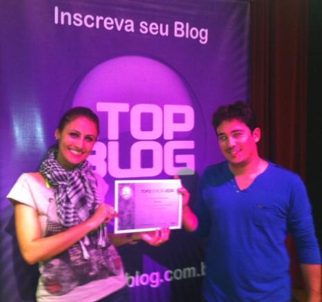 Recebendo apoio do meu marido Lucas Alkmim no Top Blog 2012