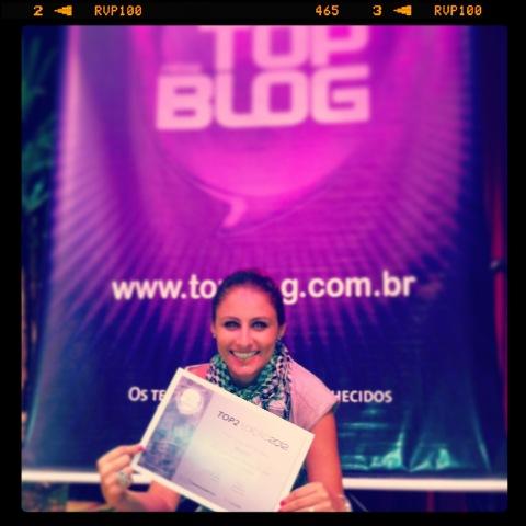 Biscoitel no palco do Top Blog 2012