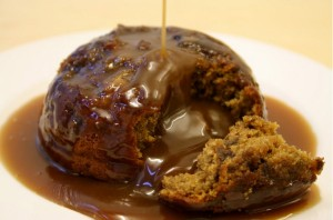 Sticky toffee pudding do Café Belas Artes