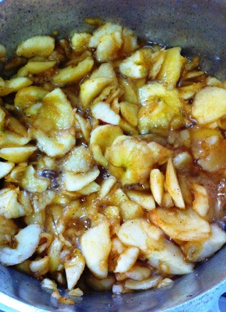 Cozinhe os milos das maçãs
