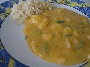Bobó e arroz