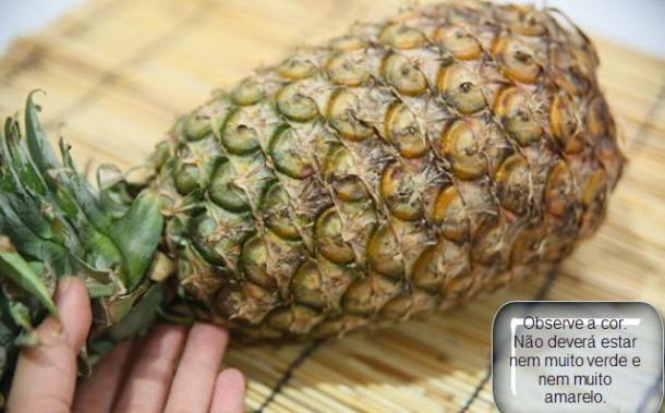 Observe o aspecto da fruta